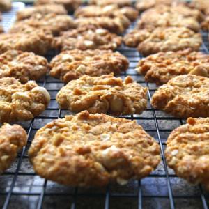 Яблочное печенье с семечками и орехами