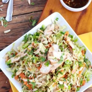 Салат из курицы с зеленью
